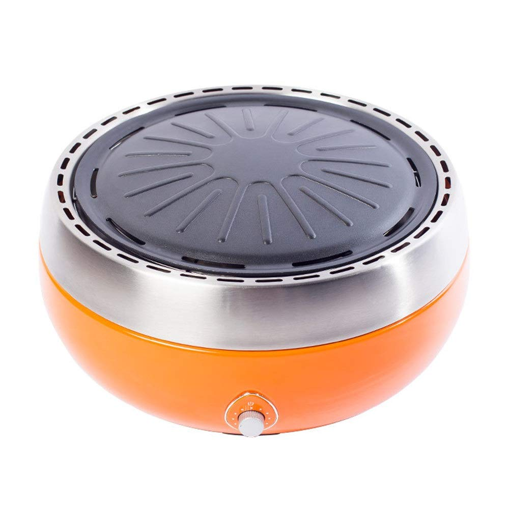 Bjzxz Multi-Function Household Electric Oven Outdoor Smoke-Free Non-Stick Battery Charcoal Grill