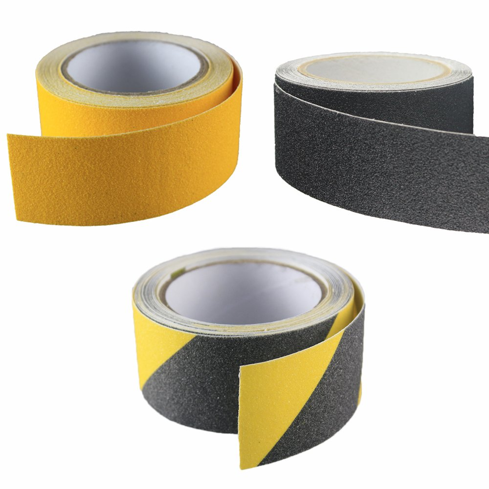 Alisan Hight Traction Anti Slip Safety Tape-2'' 16 Feet Adhesive Non Slip Strip for Stairs, Bathroom, Dishwashing Room or Other Slippery Occasion, Suitable for Indoor and Outdoor Use (2'', yellow)