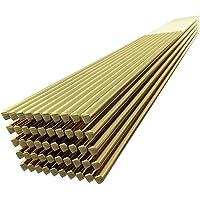 KKmoon 50pcs Brass Welding Wire Electrode 1.6mm*250mm Soldering Rod No Need Solder Powder