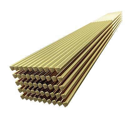 KKmoon 50pcs Electrodo de alambre de soldadura de latón 1.6mm * 250mm Varilla de soldadura