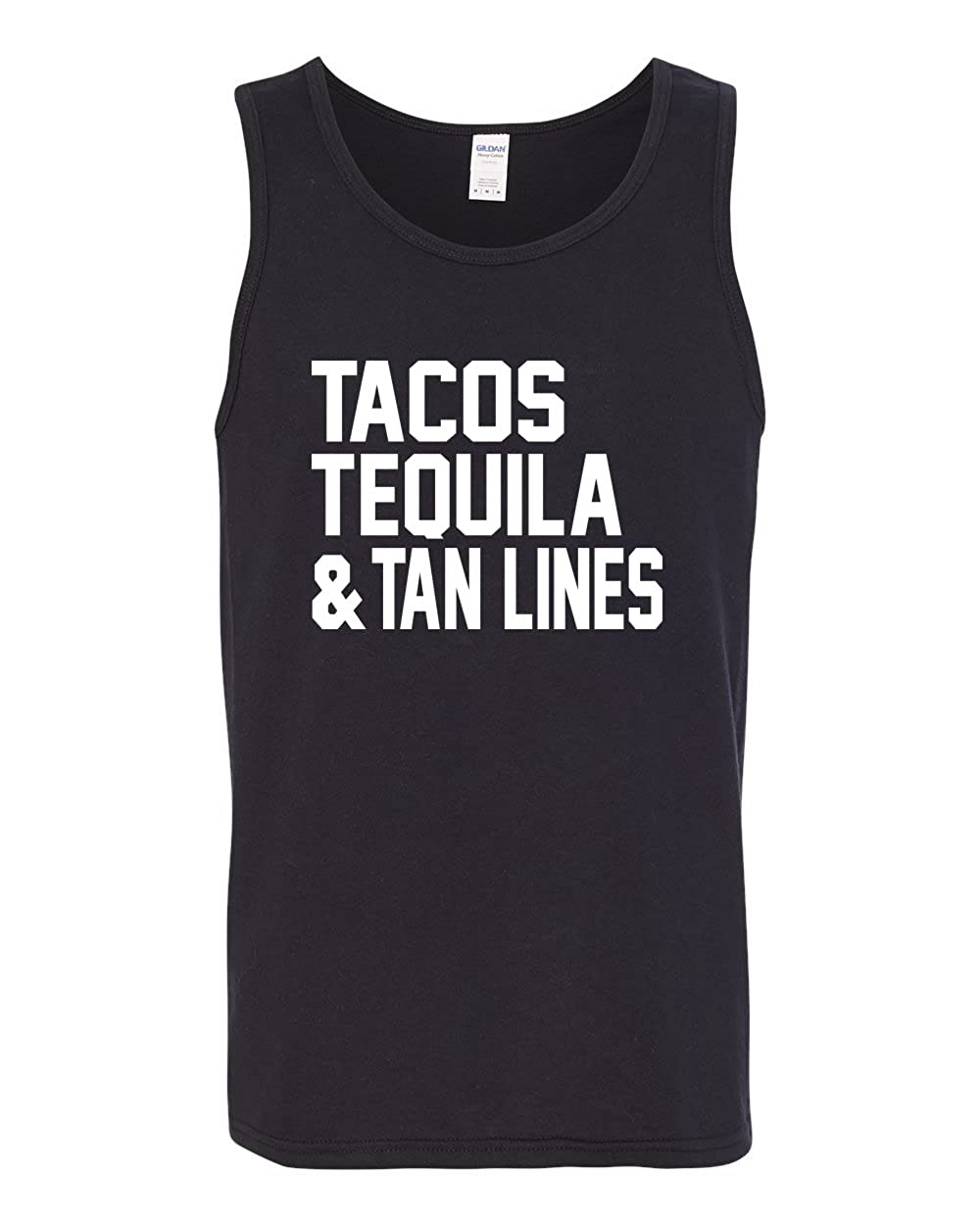 Wild Bobby Tacos Tequila /& Tan Lines Mens Pop Culture Fashion Graphic Tank Top