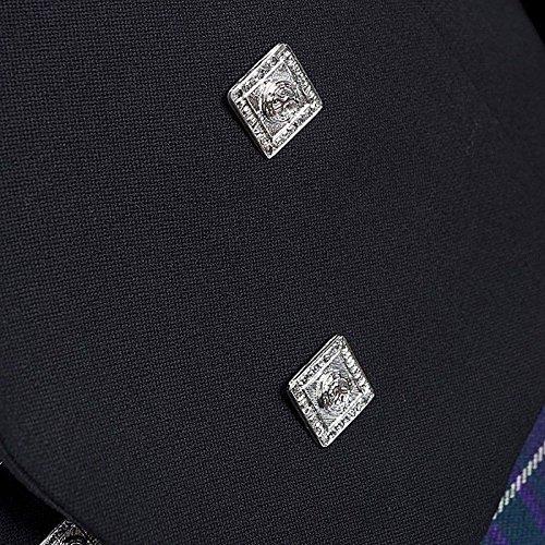 Leather DE Escocés Boda Fiesta Príncipe amp; Tallas Las Kilt Chaqueta Charlie Nuevo Chaleco Star Negro Hombre Todas amp; Chico BxYwdBHnO