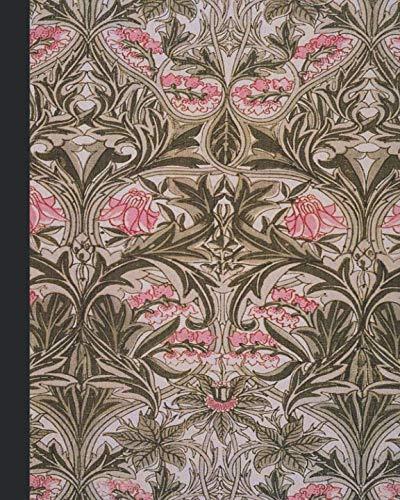 - Vintage illustration journal: Unique designed dot grid Journal for the vintage illustration lover - Arts and craft movement - William Morris - Pink and sage Vintage Bluebell or Columbine