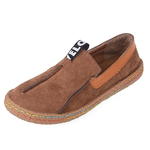 68e5e1c4c60 Minetom Women s Summer Comfort Round Toe Suede Penny Loafers Flats Sandals  Slip-on Walking Shoes