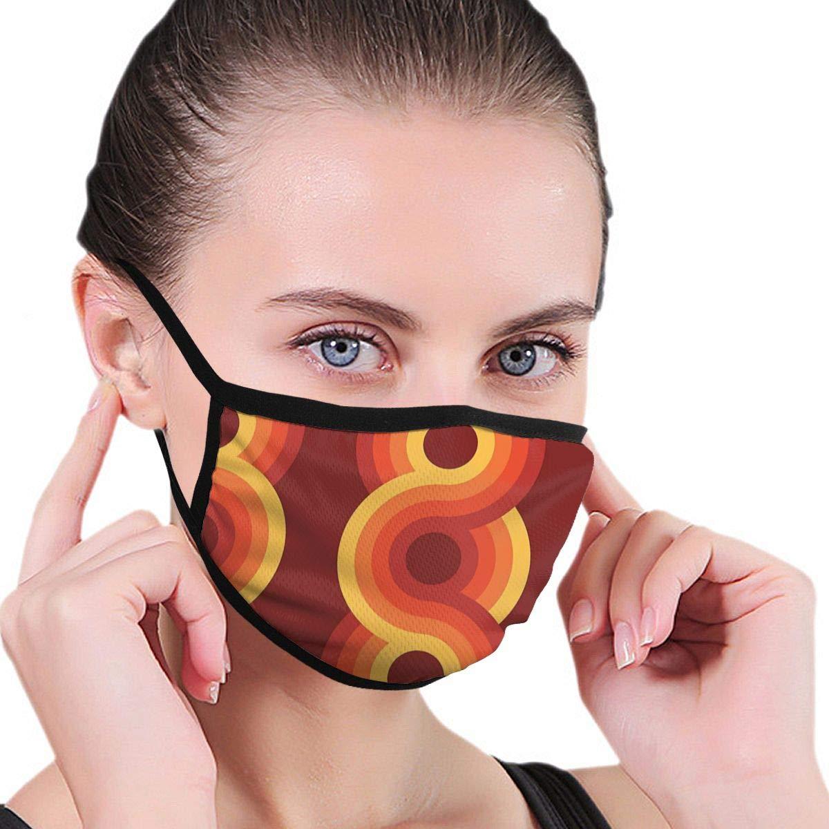 Modelo geométrico retro Bauhaus vintage Máscara unisex Máscaras no médicas A prueba de polvo Lavable y reutilizable