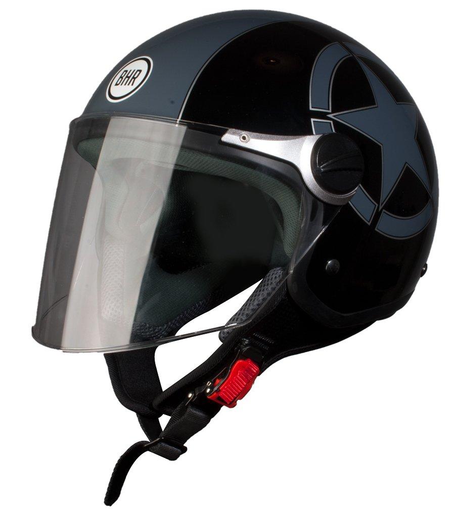 57//58 BHR Helm Demi-Jet Modell 710 Schwarz