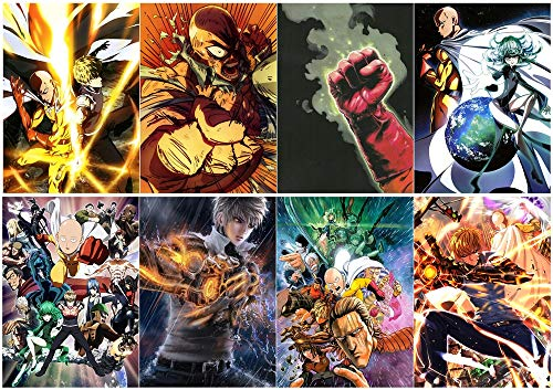 Suefscroll One Punch Man Polypropylene A3 8 pieces Posters w