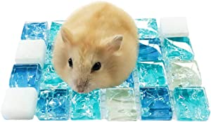 Hamster Cooling Mat, Pet Yoga Mat Cooling Pad for Hedgehogs Rabbit Hamster Puppy Guinea Pig, Help Your Pet Stay Cool