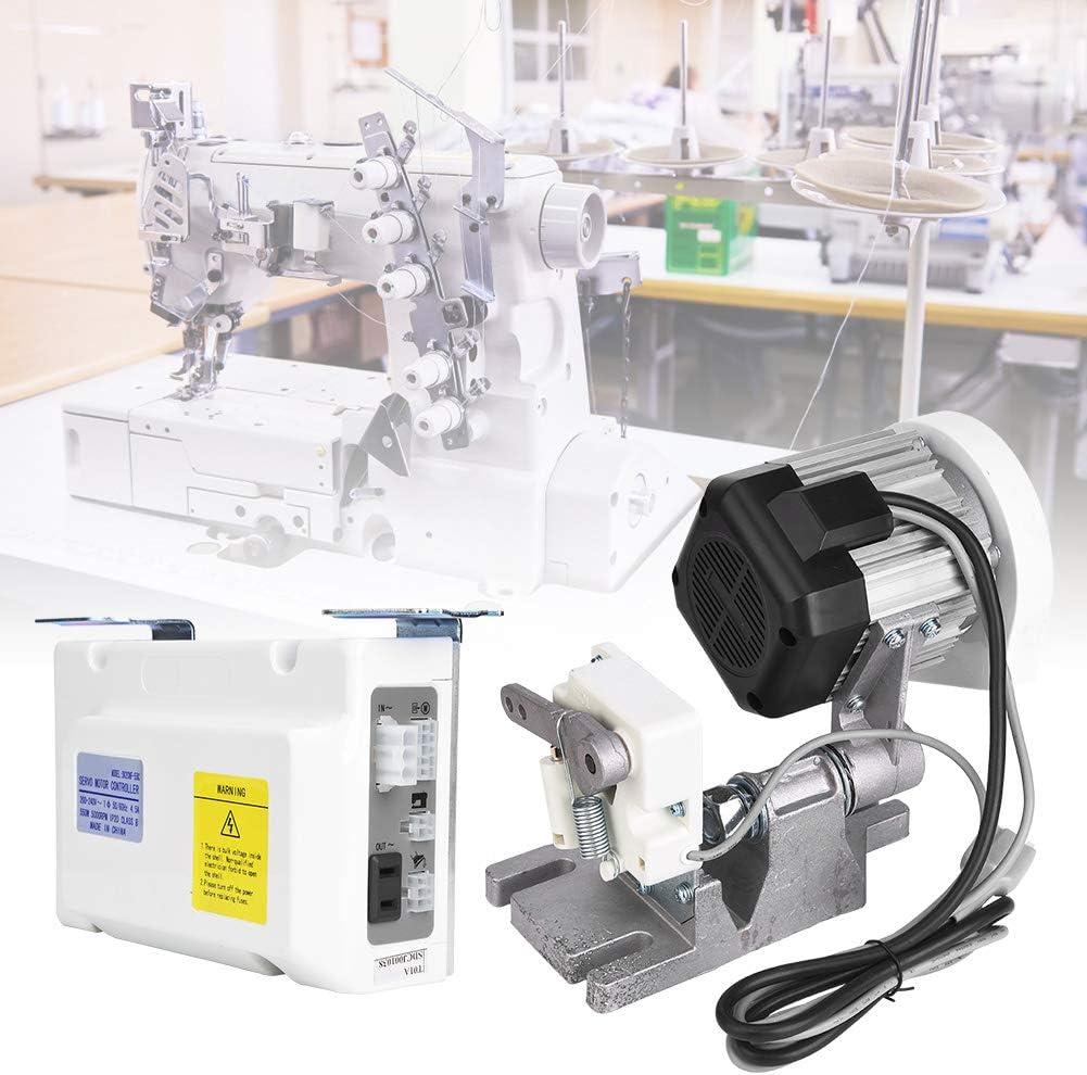 Motor de máquina de coser, 550W 5000rpm 5.0N.m Máquina de bajo ruido Juego de servomotores de ahorro de energía con accesorios para máquina de coser industrial eléctrica para el hogar(EU Plug): Amazon.es: