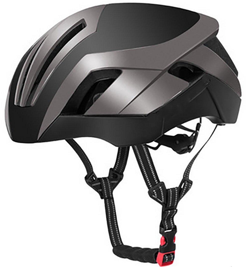 BMDHA Fahrradhelm Einstellbar Hohe Festigkeit PC-Shell + High-Tenacity EPS Dämpfung Schaum Helm Ein Körper Bilden 3 Arten Modellierung (Hut) Unisex 56-62Cm