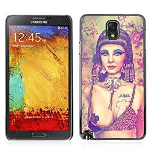 Designer Depo Hard Protection Case for Samsung Galaxy Note 3 N9000 / Pop Art Tattoo Cleopatra