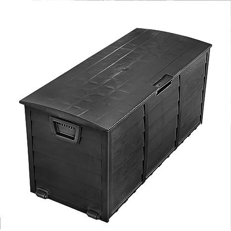 Tuff Concepts – al aire libre jardín baúl de plástico de almacenamiento de plástico caja de