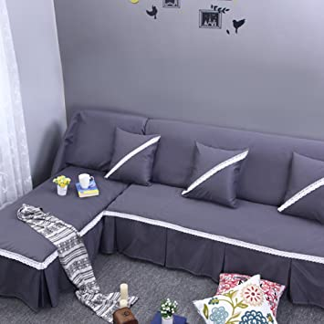 JIEJING Color sólido Funda de sofá,Tienda Completa ...