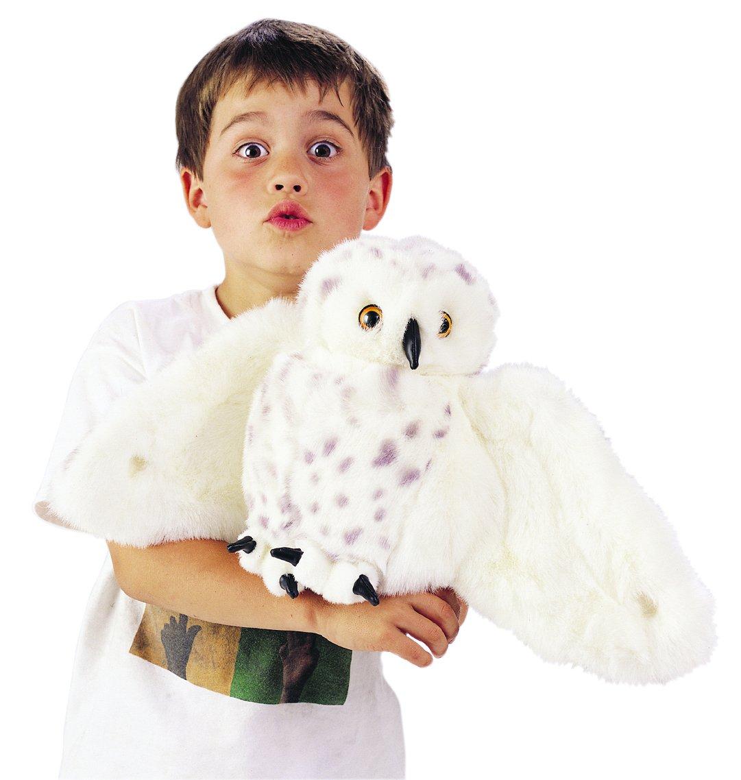 snowy owl hand puppet teacher classroom kids gift