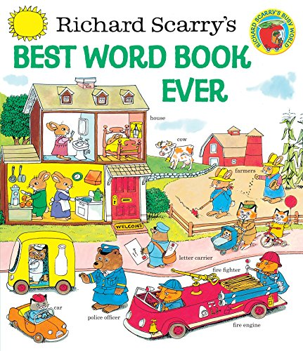 Richard Scarrys Best Word Book Ever  Giant Golden Book