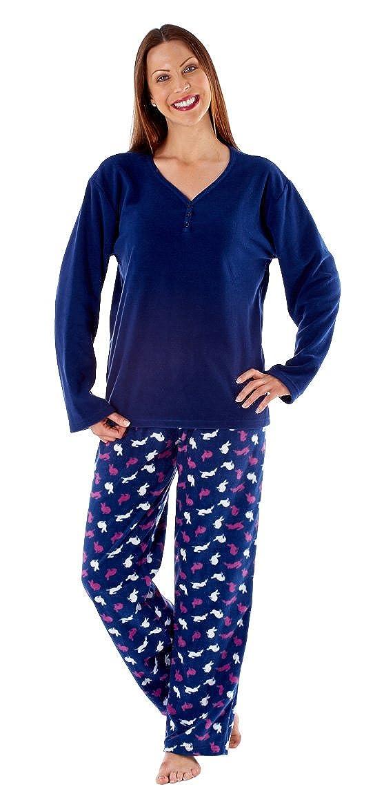 Mujer Suave Cálido Para Invierno Cómodo Lana Larga Conejo Conjunto Pijama: Amazon.es: Ropa y accesorios