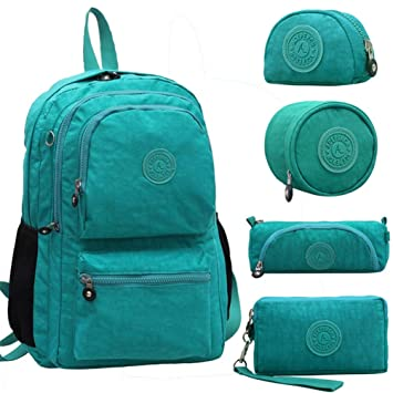 Amazon.com | Women Original Kipled Mujer Escolar Feminina Backpack School Bag For Teenager Girl Nylon Waterproof Backpacks Female Sac Light Green | Kids ...