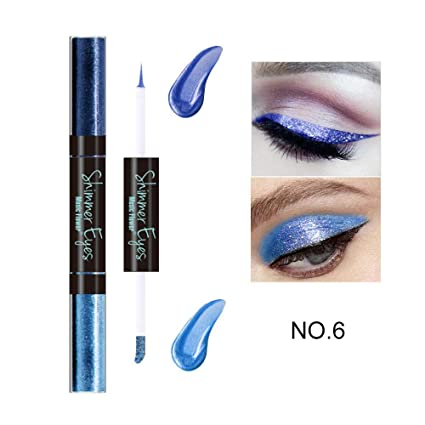 Beauty & Health Eyeliner 10 Color New Professional Glitter Cosmetics Waterproof Shimmer Pigment Silver Gold Metallic Liquid Glitters Eyeliner Makeup