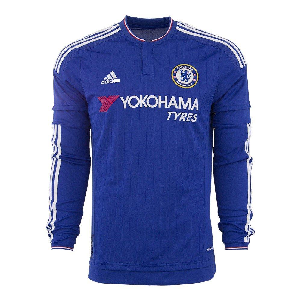 2d065e8a9 Amazon.com   adidas Chelsea FC Home Long Sleeve Jersey-CHEBLU   Sports    Outdoors