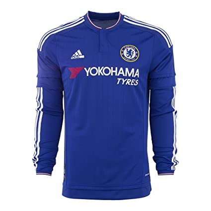 f1fb8dbda Amazon.com : adidas Chelsea FC Home Long Sleeve Jersey-CHEBLU ...