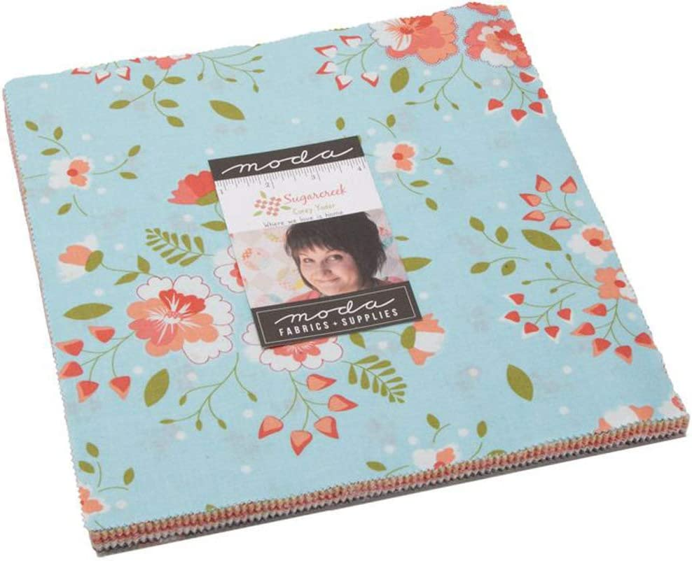 Batting Fabric 9in by 9in Die Cut 10 Squares 100/% Cotton