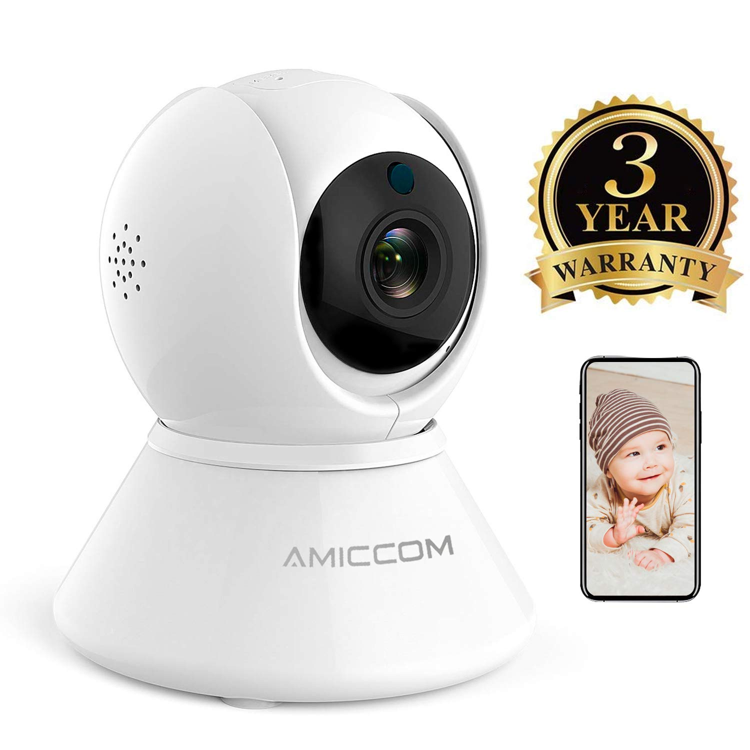 Baby Monitor – Wireless Security Camera, WiFi Camera with Audio Night Vision