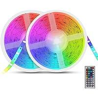 Auelek Ledstrip, 10 m, 5050 RGB, 300 leds, IP65, waterdicht, flexibel, meerkleurig, op maat te snijden, neondecoratie…