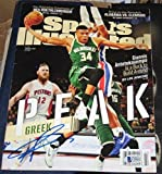 Giannis Antetokounmpo Milwaukee Bucks SIGNED Sports Illustrated SI AUTOGRAPHED - Autographed NBA Magazines