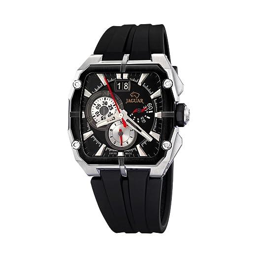 Jaguar 637/2 - Reloj de Caballero de Cuarzo, Correa de Caucho Color Negro: Amazon.es: Relojes
