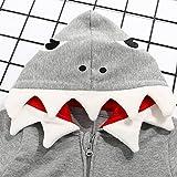 Newborn Baby Girls Cartoon Shark Hooded Romper Long