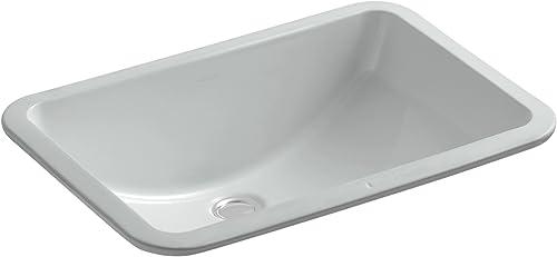 KOHLER K-2214-95 Ladena Undercounter Bathroom Sink, Ice Grey