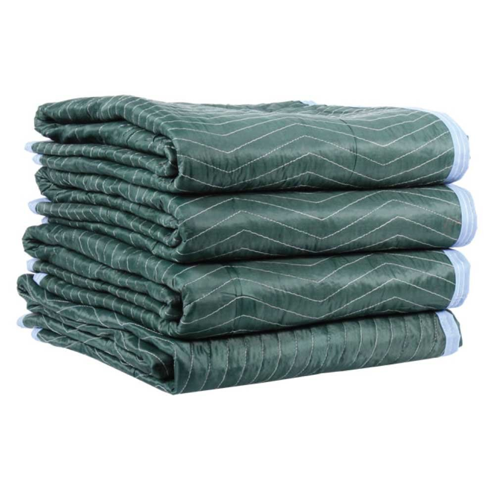 Moving Blanket (4-pack) 72'' X 80'' US Cargo Control - Multi Mover (6.25 Lbs/each, Green/Light Blue)