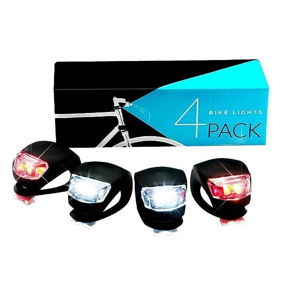 Helle Fahrradbeleuchtung USB Fahrradlampe Set inkl Vorderlicht /& Rücklicht DM #