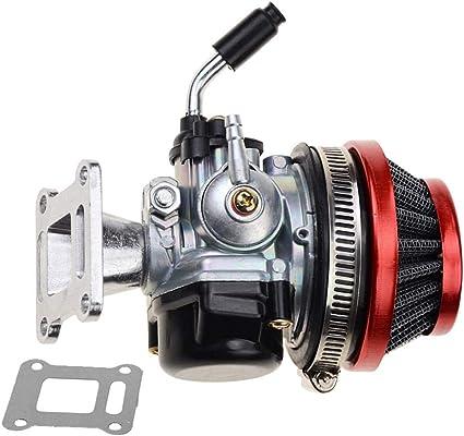 GOOFIT 2 Tiempos 58mm Filtro Carburador Moto para 47cc 49cc Mini ...