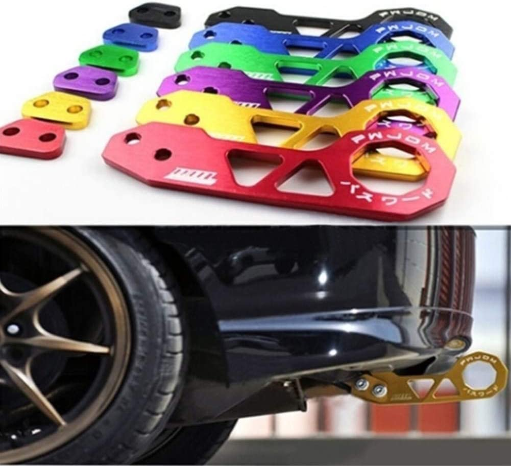 Mayyou Aluminium Track Racing Front Rear Bumper Car Zubehör Auto Trailer Ring Towing Tow Hook Kit Screw Küche Haushalt
