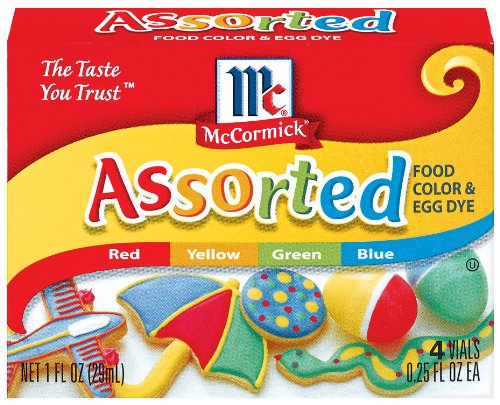 McCormick Food Colors & Egg Dye, Four Assorted, 0.25-Ounce Vials (Pack of 6) by McCormick (Image #2)