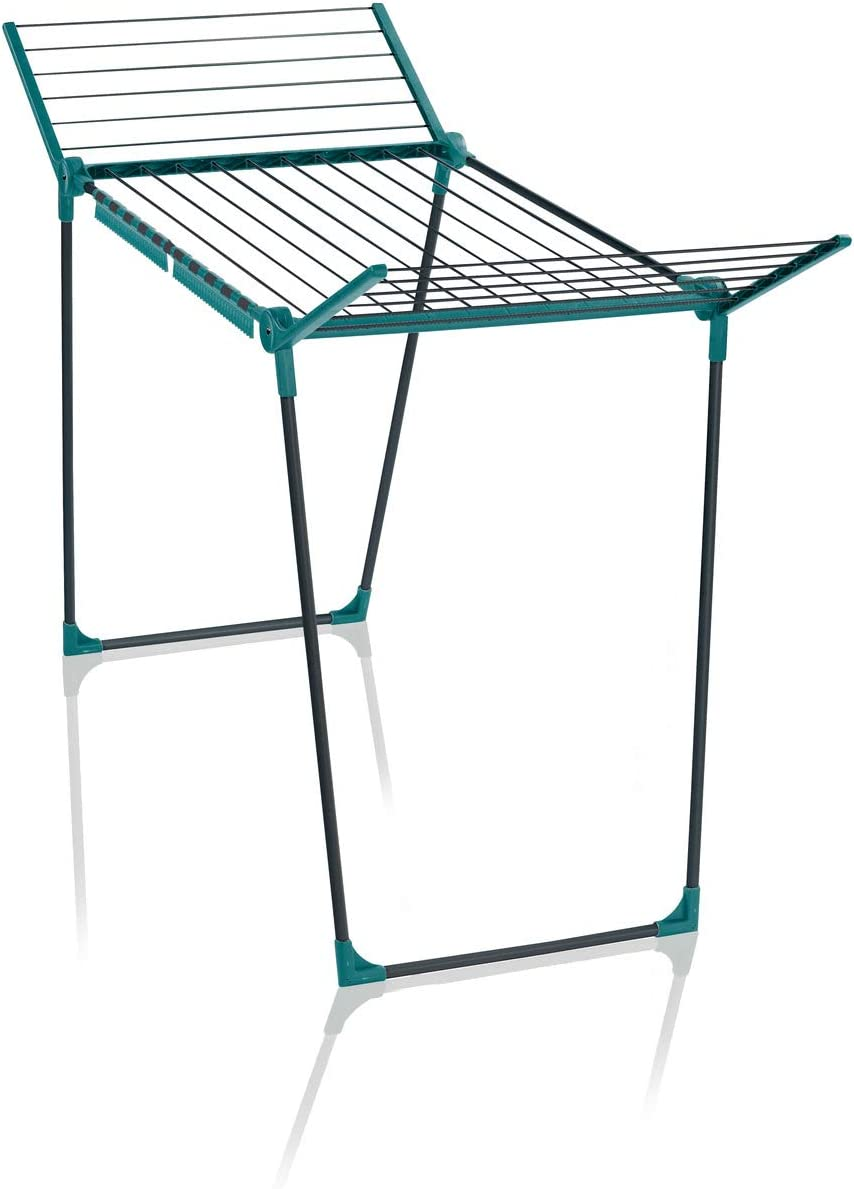 Pegasus 180 Solid Clothes Dryer Airer, Rust-Proof And Lightweight Indoor Outdoor Drying Rack And Fits 2 Wash Loads, H 87 x L 157 x D 66 cm 18m Drying Space, Grey Green