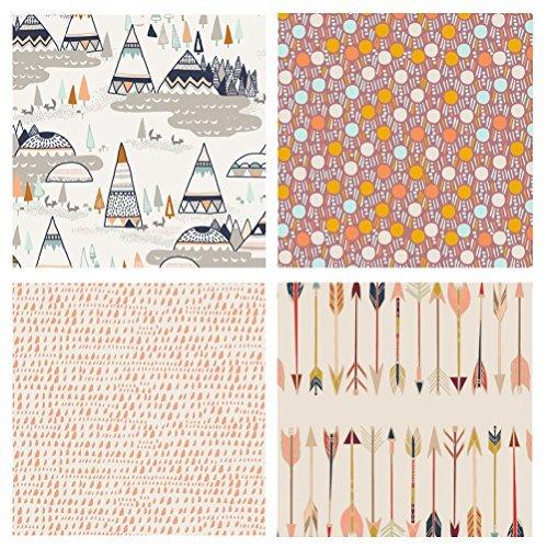 Masculine Quilt Fabrics | Men's Fat Quarters with Deer and Birds | Blue and Black Hunting Fabrics | Boys Nursery Bundle | Bonnie Christine | Art Gallery Fabrics (Fat quarters)