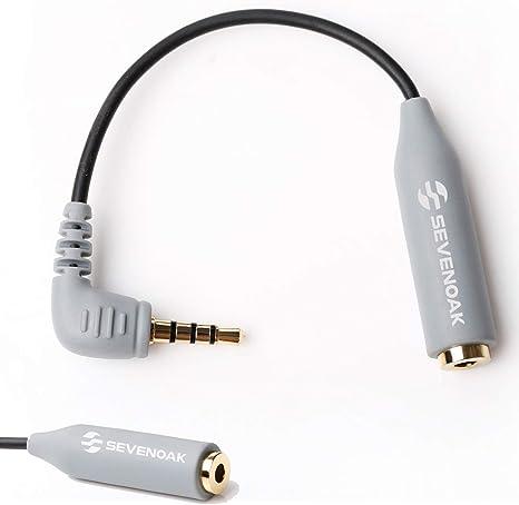 Sevenoak - Cable Adaptador de micrófono CIP2 TRS Hembra de 3,5 mm ...