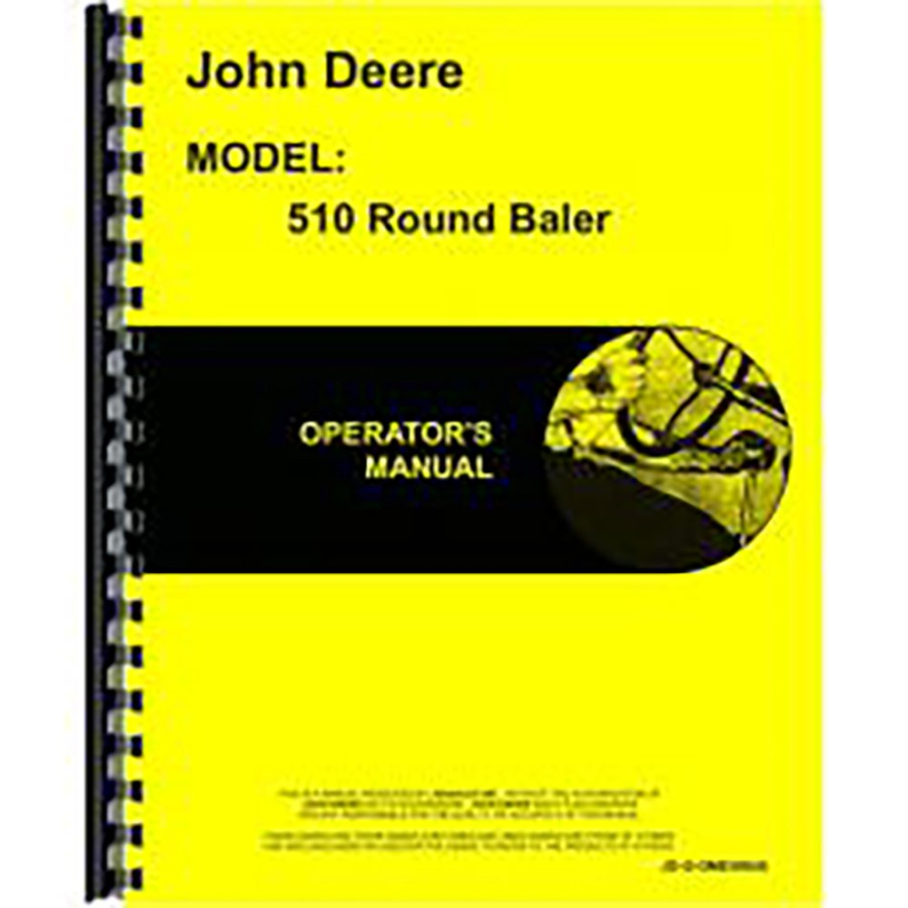 Amazon.com: New Operators Manual For John Deere Round Baler 510: Industrial  & Scientific