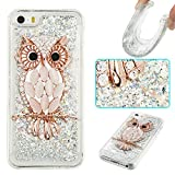 iPhone 5S Case,iPhone SE Case,Gift_Source Luxury Bling Glitter Sparkle Flowing Liquid Quicksand Design Soft Rubber Gel Cover TPU Bumper Case For iPhone SE/5/5s [Diamond Owl]