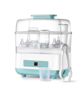 OMORC Baby Bottle Warmer and Dryer, Milk Warmer & Formula Heater, 6-in-1 Baby Food Heater & Steam Warmer with Timer and Safe Auto-shutoff, BPA-Free, Fits Most Brands of Bottles & Jars