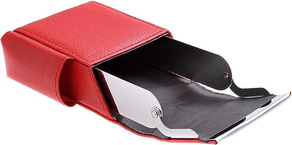 Quantum Abacus Caja/Funda para Paquetes de Cigarrillos, de Cuero PU, Apto para tamaños estándar, con Compartimento Adicional para un mechero Mini, Mod. 325-02 (DE): Amazon.es: Equipaje
