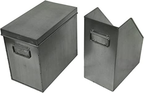 Lata revista titulares 2 piezas Lata revistero y caja con tapa ...