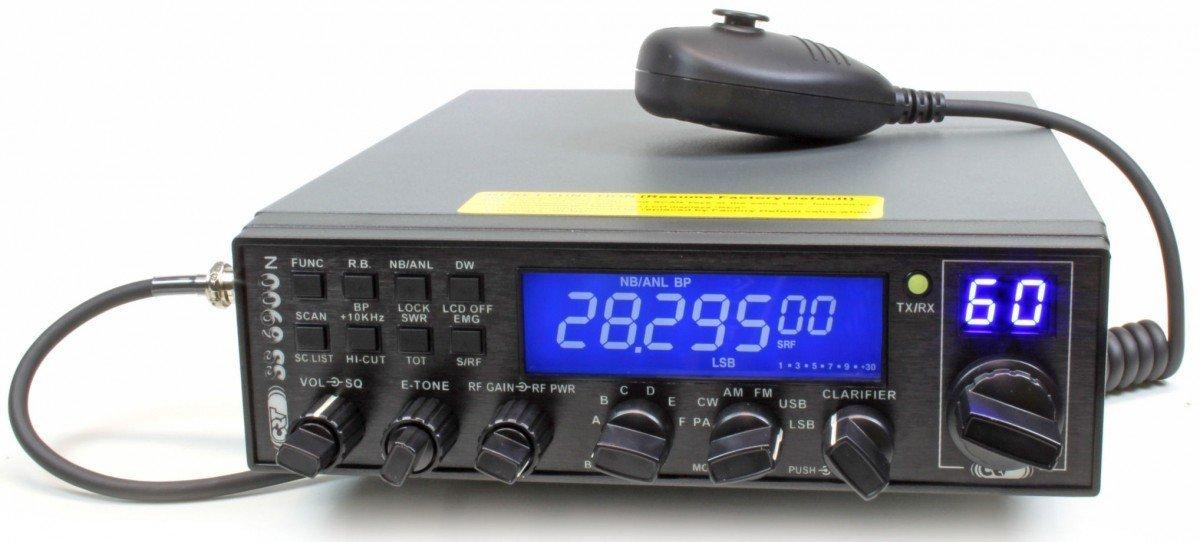 Radio CB CRT SS 6900 N Bleu AM/FM / USB/CW / PA TX 000160