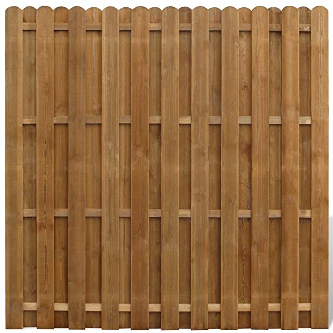 vidaXL Panel de Valla Cuadrado Jardín Madera Marrón FSC 180x180cm ...