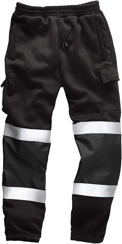 Top Fashion18 Mens Hi Viz Workwear Combat Trousers Jogging Bottoms Size S-5XL