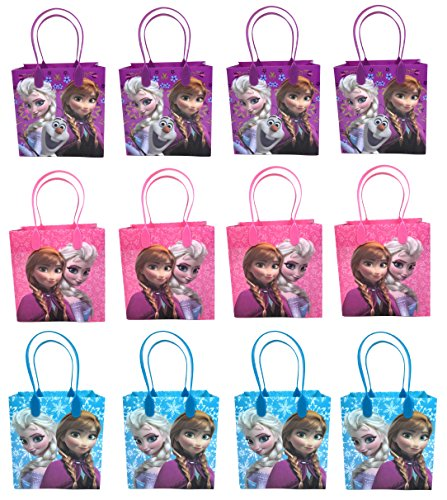 Disney Frozen Party Favor Goodie Small Gift Bags 12 ()