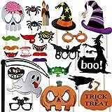 halloween decorations for kids Halloween Photo Booth Props 27 Pcs for Halloween Decorations