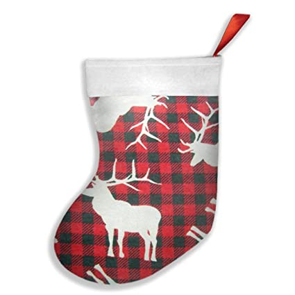 deer red and black plaid christmas stockingsxmas stockingchristmas decorationsclassic xmas - Red And Black Plaid Christmas Decor